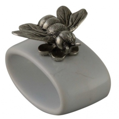 Stoneware Bee Napkin Rings- Greyson Place