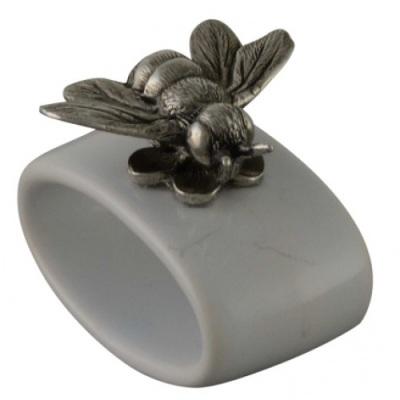Stoneware Bee Napkin Rings- Greyson Place