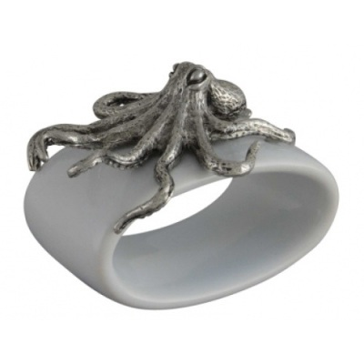 Stoneware Octopus Napkin Ring- Greyson Place