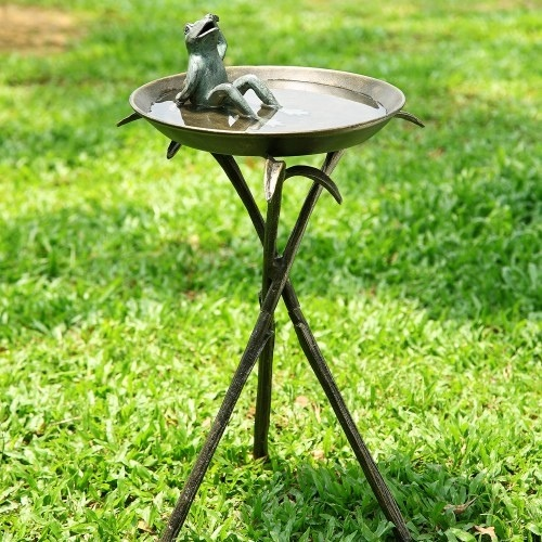 Greyson Place- Cool Frog Bird Bath