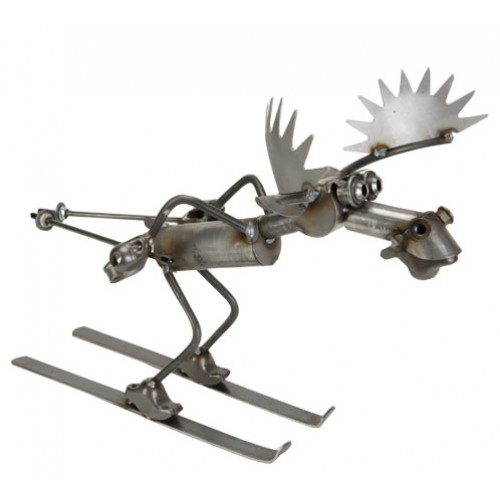 Greyson Place- Skiing Moose Sculpture